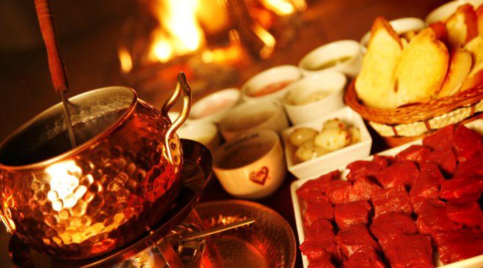 Fondue de Carne, Fondue Carne Chalezinho, Fondue de Carne do Chalezinho, Fondue de Carne ao óleo
